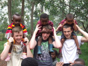 Piggybacks from students of St. Paul's College Raheny during the Summer programme in Ambo, Ethiopia.